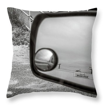 Cloudy Day Reflection Throw Pillow