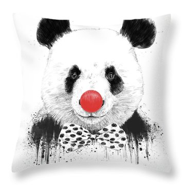 Clown Panda Throw Pillow