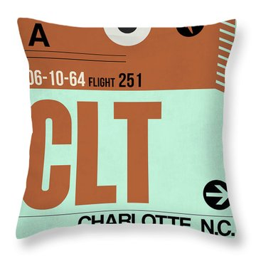 Clt Charlotte Luggage Tag I Throw Pillow