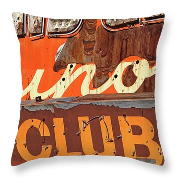 Throw Pillow featuring the photograph Club by Skip Hunt