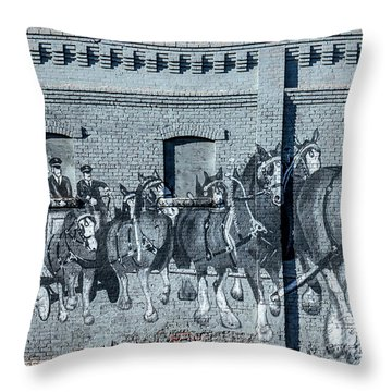 Clydesdale Mural Throw Pillow
