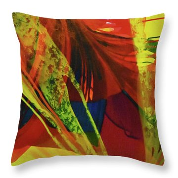 Throw Pillow featuring the painting Coalition by Kate Word