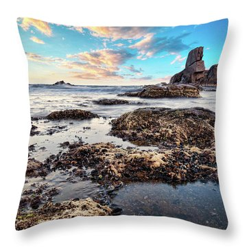 Coast At Sozopol, Bulgaria Throw Pillow