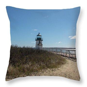 Coastal Brant Light House Throw Pillow