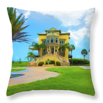 Throw Pillow featuring the photograph Coastal Living by John M Bailey