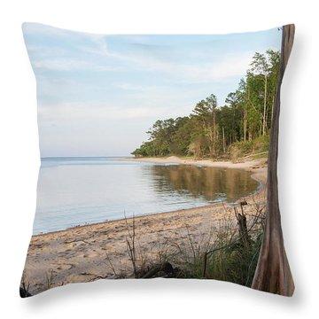 Coastal River Scene Throw Pillow
