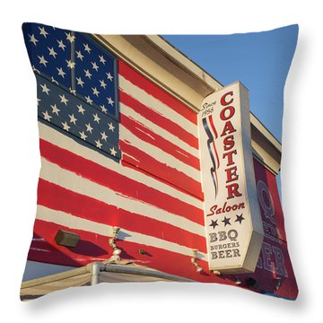 Coaster Saloon Mission Beach San Diego California Throw Pillow