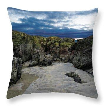 Coastline Castle Throw Pillow