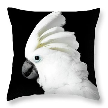 Cockatoo Alba Throw Pillow