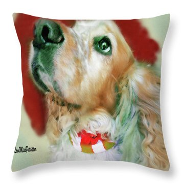 Cocker Spaniel Painting Throw Pillow