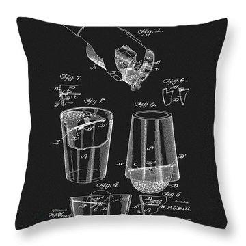 Cocktail Mixer Patent Throw Pillow
