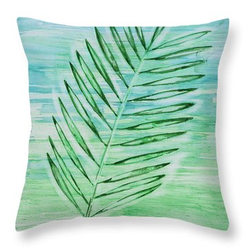 Coconut Leaf Throw Pillow