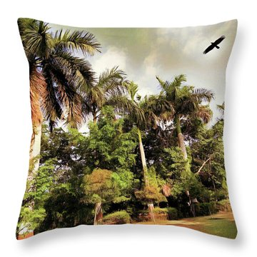 Coconut Trees Throw Pillow