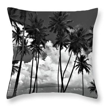 Coconut Trees At Mayaro Throw Pillow