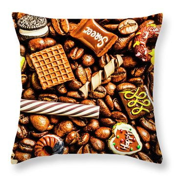 Coffee Candy Throw Pillow