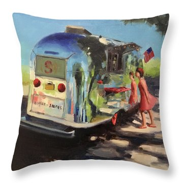 Coffee In The Shade Throw Pillow