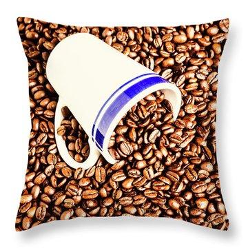 Coffee Tips Throw Pillow