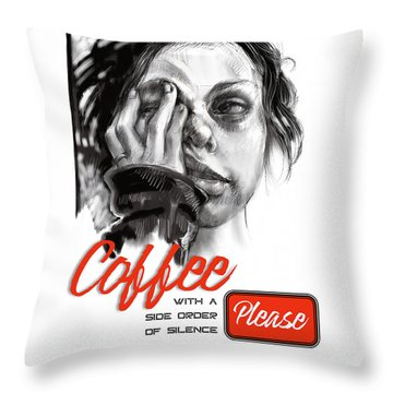 Coffee With A Side Throw Pillow