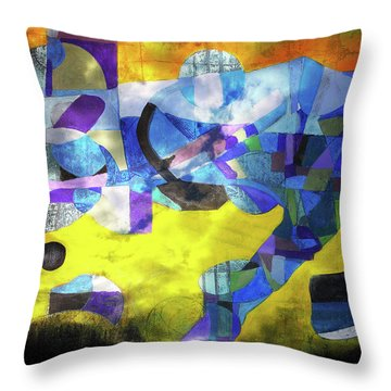 Cold Evening Wind Throw Pillow