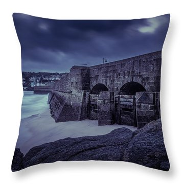Cold Mood On The Pier Throw Pillow