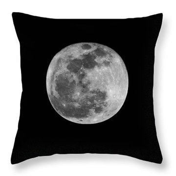 Full Cold Moon Throw Pillow