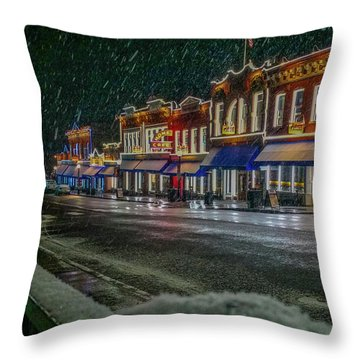 Cold Night In Cripple Creek Throw Pillow