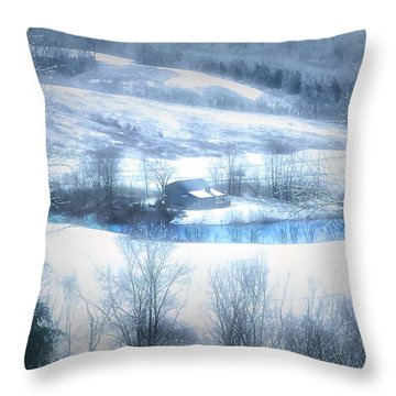 Cold Valley Throw Pillow