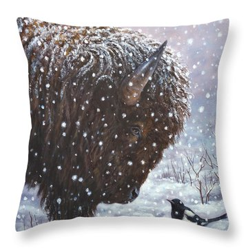Cold Weather Cohorts Throw Pillow