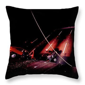 Collapsed Section Of The Bay Bridge Throw Pillow