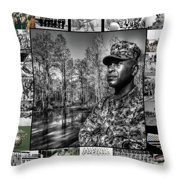 Colonel Trimble Collage Throw Pillow