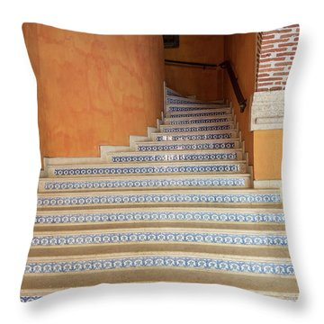Throw Pillow featuring the photograph Colonial Stairs by Juan Contreras