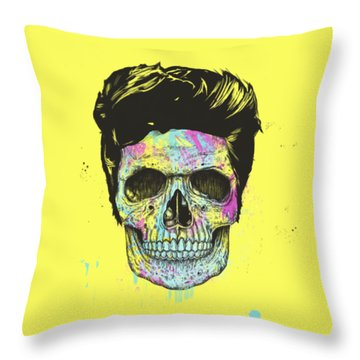 Color Your Skull Throw Pillow