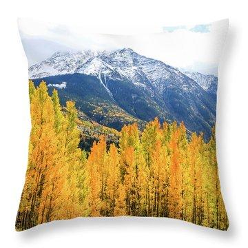 Colorado Aspens And Mountains 2 Throw Pillow