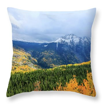 Colorado Aspens And Mountains 3 Throw Pillow