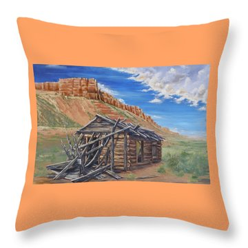 Colorado Prarie Cabin Throw Pillow