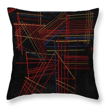Colored Sticks, 1928 Throw Pillow