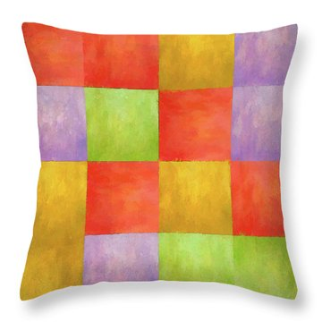 Colored Tiles Throw Pillow