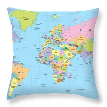 South Atlantic Throw Pillows