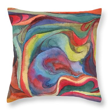Throw Pillow featuring the painting Colorful Abstract Palette 2 by Dobrotsvet Art