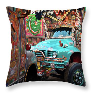 Throw Pillow featuring the photograph Truck Art by Awais Yaqub