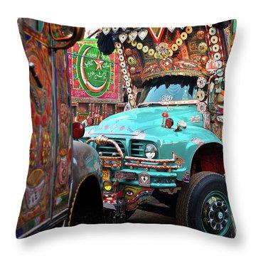 Truck Art Throw Pillow