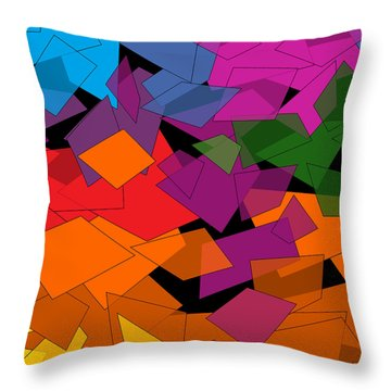 Colorful Chaos Throw Pillow