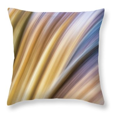 Colorful Flow Throw Pillow