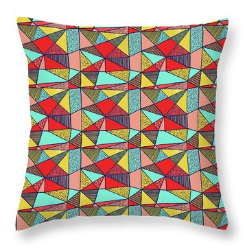 Colorful Geometric Abstract Pattern Throw Pillow