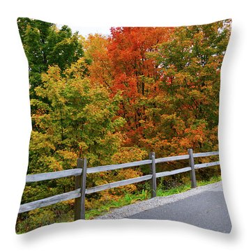 Throw Pillow featuring the photograph Colorful Lane by SimplyCMB