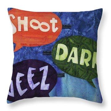 Colorful Language Throw Pillow