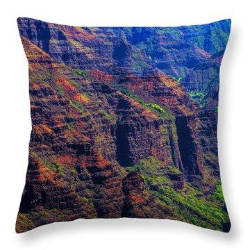 Colorful Mountains Of Kauai Throw Pillow