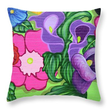 Colorful Mural Throw Pillow