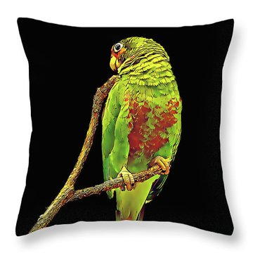 Colorful Parrot Throw Pillow
