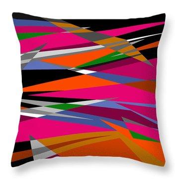 Colorful Reaction Throw Pillow